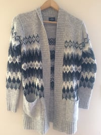 gray and white knitted cardigan Edmonton, T5E 5N2