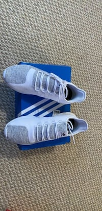 Size 12 pair of white Adidas low top sneakers Springfield, 22150