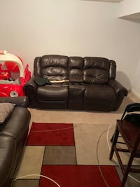 Recliner sofa and loveseat