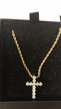 Gold-colored chain necklace with pendant San Jose, 95124