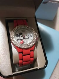 Disney Mickey Mouse Red Metal Watch Calgary, T3J