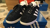 For Sale Adidas Gazelle for men size 11. Color: Navy/White Used three times. Good as new!