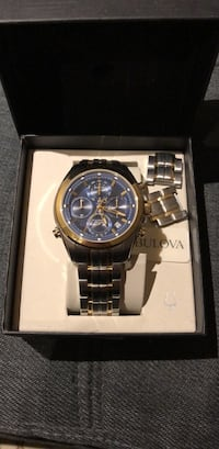 Bulova male gold and stainless steel watch Vaughan, L4H