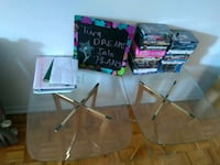 Two side table (glass) Gatineau, J8Y 5P2