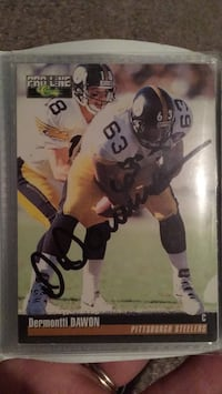 Signed Dermontti Dawon Pittsburg Steelers Football card NFL sports memorabilia 391 mi