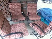 4 Black Wrought Iron Patio Chairs Rockville