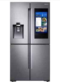 Gray side-by-side refrigerator with dispenser 34 km