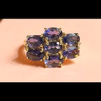 Purple Tanzanite And 14K Y Gold Ring