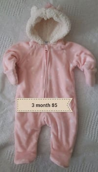 Infant warm fleece snowsuit EUC Mississauga, L5L 2E9