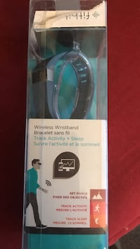 Blue fitbit with box