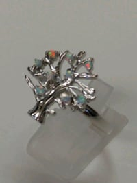 White Fire Opal tree Ring sz 11 Mount Pleasant, 48858