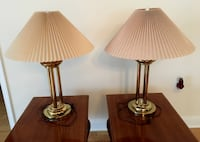 Pair Brass Table Lamps Princeton Junction