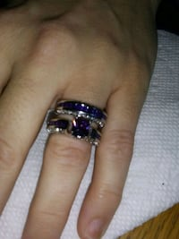 Amethyst and size 6. 925 sterling silver cz weddin Manchester, 17345