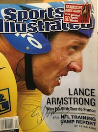 Lance Armstrong Signed August 4, 2003 'Wins His Fifth Tour De France' Original Sports Illustrated Magazine Cranberry Twp