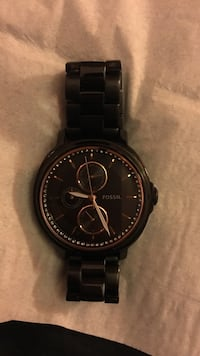 Black and rose gold women's fossil watch Kitchener, N2G 3L6