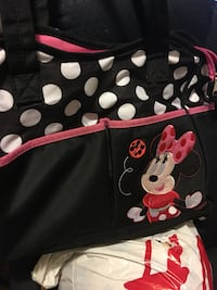 black and white polka-dot Minnie Mouse bag Montréal, H1G 4C2
