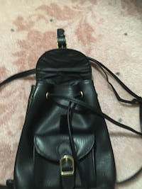 black leather knapsack New Westminster, V3M 1M4