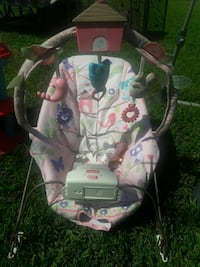 baby's pink and white bouncer seat Chesapeake, 23320