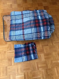 Single bed comforter with pillow sham reversible