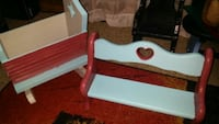 Mini doll furniture-cradle and bench Bloomington, 47408