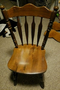 brown wooden windsor chair with brown wooden base Washington, 20019