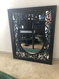 black wooden framed wall mirror Gaithersburg, 20878