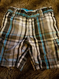 white, black, and brown plaid shorts toddler Winnipeg, R3E