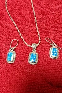 Necklace and earring set sterling silver Nashua, 03064