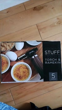 Creme brulee torch and ramekins  - brand new Newmarket