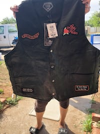 Harley Davidson vest and matching chaps  Odessa, 79761