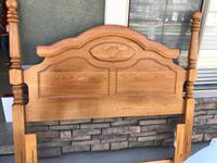 Solid Oak Headboard and Frame Queen or full Gilbert, 85296
