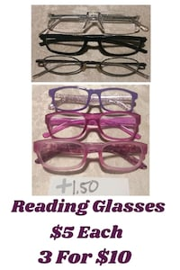 four brown framed eyeglasses with text overlay 2290 mi