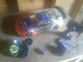 blue and black RC car toy
