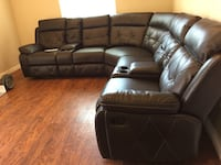 BRAND NEW IN THE BOX LEATHER SECTIONAL WITH DUAL RECLINER 39 DOWN PAYMENT  Dallas, 75243
