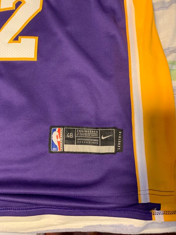 London ball Los Angeles lakers jersey 1