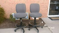 2  gray rolling chairs ($40 /BOTH) Forest Hill, 21050