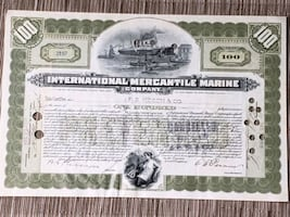 Early 1900s Share in mercantile marine company