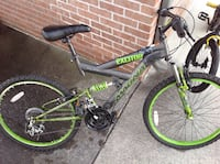 Boys Mountain Bike Black and Green full-suspension bike KNOXVILLE