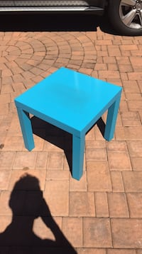 Square blue wooden side table Hicksville, 11801