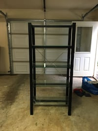 Crate & Barrel bookcase with glass shelves  Alexandria, 22312