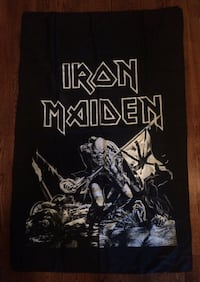 Vintage IRON MAIDEN The Trooper Flag TORONTO