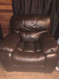 Brown Leather recliner Plant City