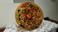 Fused Art Glass 17 in. Charger Plate reduced. Holm Holmdel, 07733