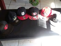 four black and red fitted caps Fresno, 93703