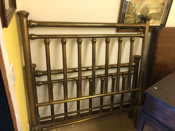 Full size brass bed antique