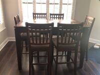 rectangular brown wooden table with six chairs dining set San Antonio, 78251