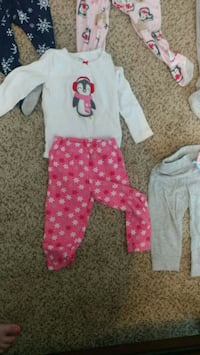 baby's white and pink footie pajama Bethlehem, 30620