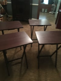 Wood TV Tray tables  with stand
