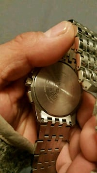 round silver-colored watch with link bracelet Modesto, 95351