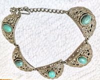 Antique silver with assimilated turquoise Los Angeles, 90047